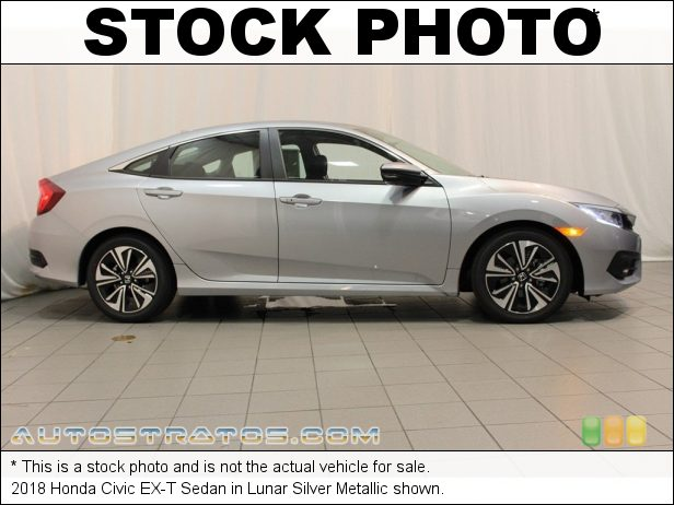 Stock photo for this 2018 Honda Civic EX-T Sedan 1.5 Liter Turbocharged DOHC 16-Valve 4 Cylinder CVT Automatic