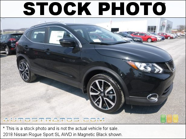 Stock photo for this 2018 Nissan Rogue Sport SL AWD 2.0 Liter DOHC 16-Valve CVTCS 4 Cylinder Xtronic CVT Automatic
