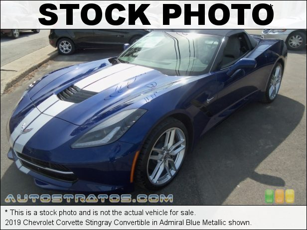 Stock photo for this 2019 Chevrolet Corvette Stingray Convertible 6.2 Liter DI OHV 16-Valve VVT LT1 V8 8 Speed Automatic