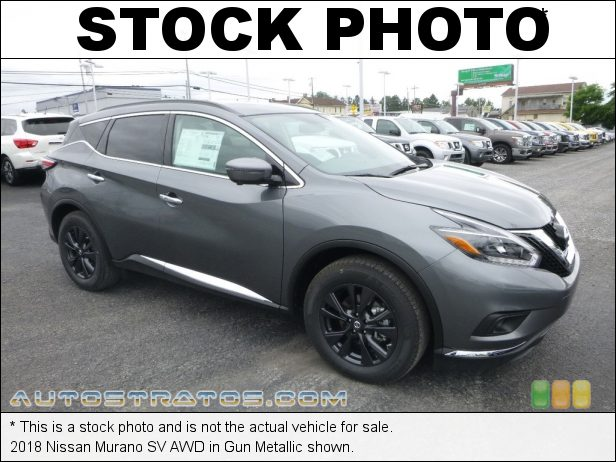 Stock photo for this 2018 Nissan Murano SV AWD 3.5 Liter DOHC 24-Valve CVTCS V6 Xtronic CVT Automatic
