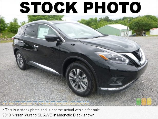 Stock photo for this 2018 Nissan Murano AWD 3.5 Liter DOHC 24-Valve CVTCS V6 Xtronic CVT Automatic