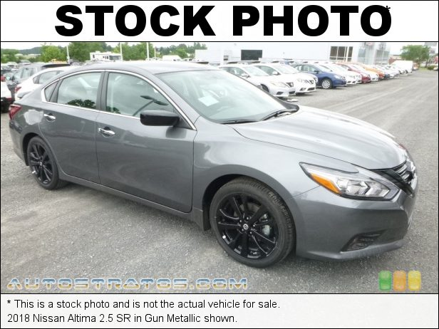 Stock photo for this 2018 Nissan Altima 2.5 SR 2.5 Liter DOHC 16-Valve CVTCS 4 Cylinder Xtronic CVT Automatic
