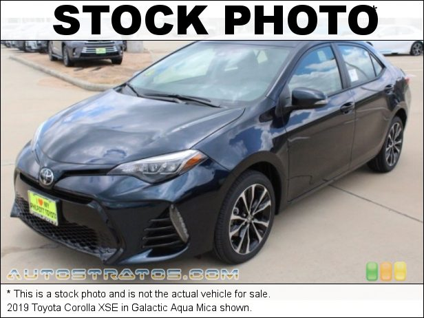 Stock photo for this 2019 Toyota Corolla XSE 1.8 Liter DOHC 16-Valve VVT-i 4 Cylinder CVTi-S Automatic