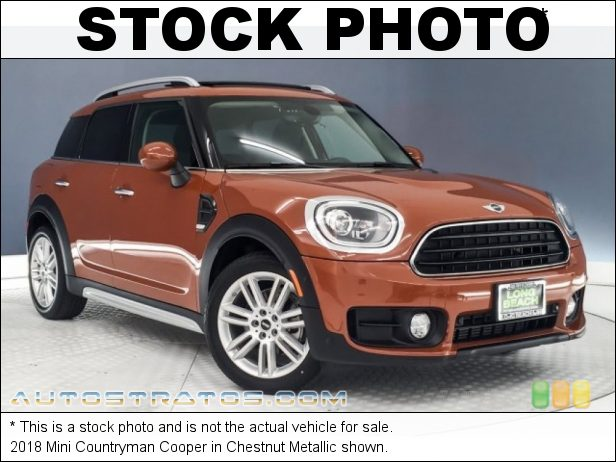 Stock photo for this 2018 Mini Countryman Cooper 1.5 Liter TwinPower Turbocharged DOHC 12-Valve VVT 3 Cylinder 6 Speed Automatic