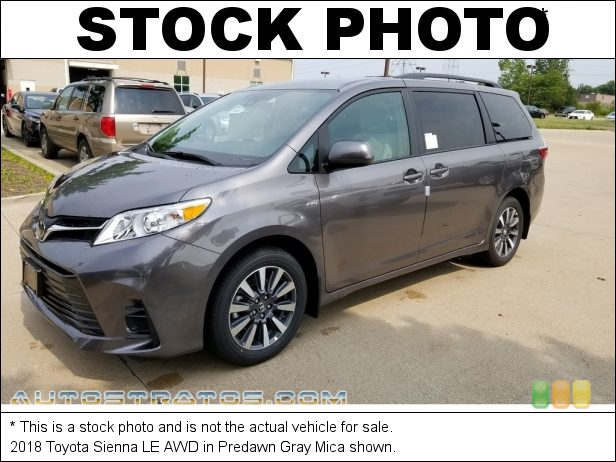 Stock photo for this 2019 Toyota Sienna LE 3.5 Liter DOHC 24-Valve Dual VVT-i V6 8 Speed Automatic