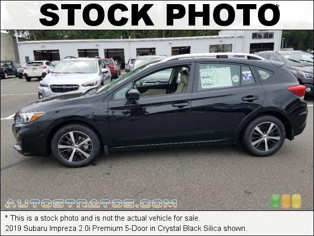 Stock photo for this 2019 Subaru Impreza 2.0i Premium 5-Door 2.0 Liter DI DOHC 16-Valve VVT Flat 4 Cylinder Lineartronic CVT Automatic