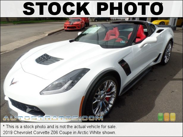 Stock photo for this 2019 Chevrolet Corvette Z06 Coupe 6.2 Liter Supercharged DI OHV 16-Valve VVT LT4 V8 8 Speed Automatic