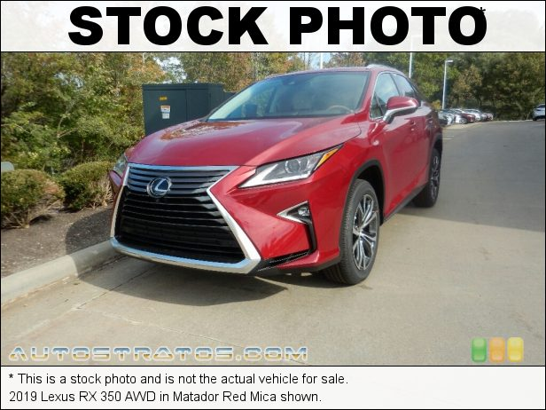 Stock photo for this 2019 Lexus RX 350 AWD 3.5 Liter DOHC 24-Valve VVT-i V6 8 Speed Automatic