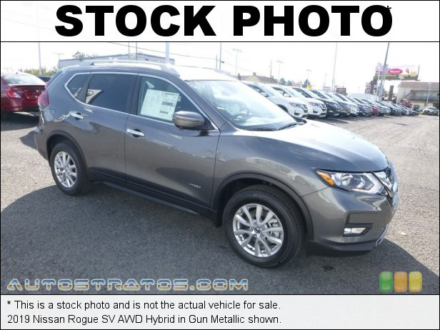 Stock photo for this 2019 Nissan Rogue AWD Hybrid 2.0 Liter DOHC 16-valve CVTCS 4 Cylinder Gasoline/Electric Hybri Xtronic CVT Automatic