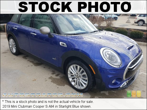 Stock photo for this 2019 Mini Clubman Cooper S All4 2.0 Liter TwinPower Turbocharged DOHC 16-Valve VVT 4 Cylinder 8 Speed Automatic