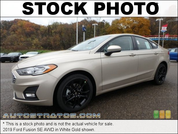 Stock photo for this 2019 Ford Fusion SE AWD 2.0 Liter Turbocharged DOHC 16-Valve EcoBoost 4 Cylinder 6 Speed Automatic