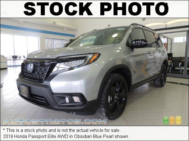 Stock photo for this 2019 Honda Passport Elite AWD 3.5 Liter SOHC 24-Valve i-VTEC V6 9 Speed Automatic
