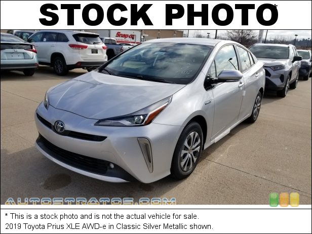Stock photo for this 2019 Toyota Prius  1.8 Liter DOHC 16-Valve VVT-i 4 Cylinder Gasoline/Electric Hybri ECVT Automatic