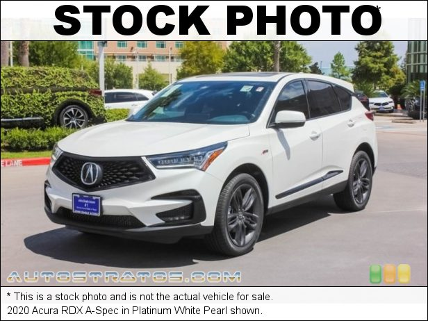 Stock photo for this 2020 Acura RDX A-Spec 2.0 Liter Turbocharged DOHC 16-Valve VTEC 4 Cylinder 10 Speed Automatic