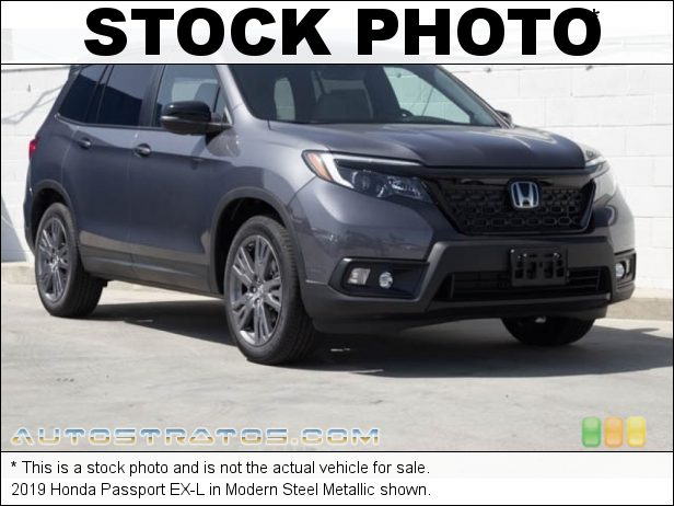 Stock photo for this 2019 Honda Passport EX-L 3.5 Liter SOHC 24-Valve i-VTEC V6 9 Speed Automatic