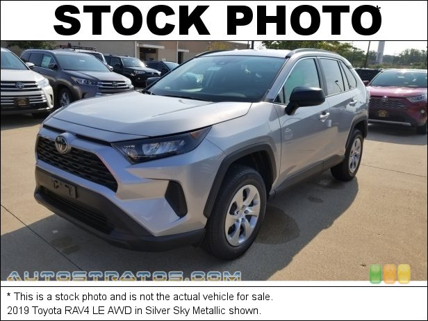 Stock photo for this 2019 Toyota RAV4 LE AWD 2.5 Liter DOHC 16-Valve Dual VVT-i 4 Cylinder 8 Speed ECT-i Automatic