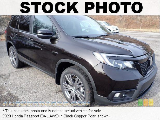 Stock photo for this 2020 Honda Passport EX-L AWD 3.5 Liter SOHC 24-Valve i-VTEC V6 9 Speed Automatic