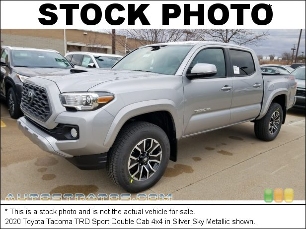Stock photo for this 2020 Toyota Tacoma TRD Double Cab 4x4 3.5 Liter DOHC 24-Valve Dual VVT-i V6 6 Speed Automatic