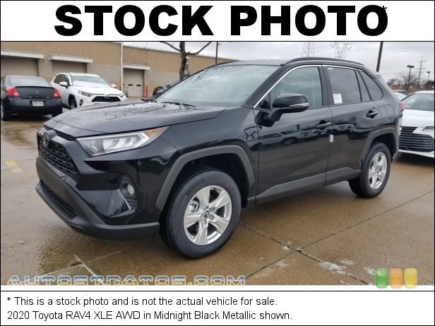 Stock photo for this 2020 Toyota RAV4 XLE AWD 2.5 Liter DOHC 16-Valve Dual VVT-i 4 Cylinder 8 Speed ECT-i Automatic
