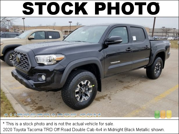 Stock photo for this 2020 Toyota Tacoma Double Cab 4x4 3.5 Liter DOHC 24-Valve Dual VVT-i V6 6 Speed Automatic