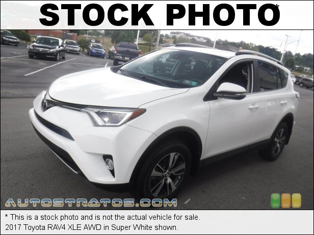 Stock photo for this 2017 Toyota RAV4 XLE AWD 2.5 Liter DOHC 16-Valve Dual VVT-i 4 Cylinder 6 Speed ECT-i Automatic