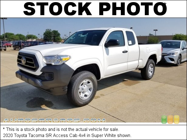 Stock photo for this 2021 Toyota Tacoma SR Access Cab 4x4 2.7 Liter DOHC 16-Valve Dual VVT-i 4 Cylinder 6 Speed Automatic