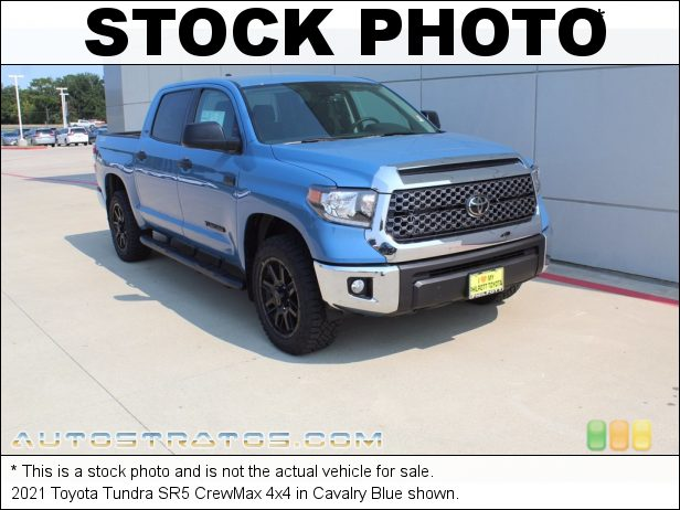 Stock photo for this 2021 Toyota Tundra CrewMax 4x4 5.7 Liter i-Force DOHC 32-Valve VVT-i V8 6 Speed ECT-i Automatic