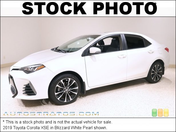 Stock photo for this 2019 Toyota Corolla LE 1.8 Liter DOHC 16-Valve VVT-i 4 Cylinder CVTi-S Automatic