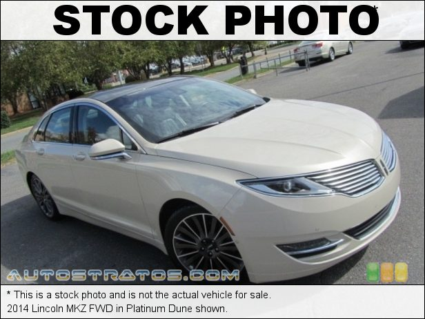 Stock photo for this 2014 Lincoln MKZ FWD 2.0 Liter GTDI Turbocharged DOHC 16-Valve EcoBoost 4 Cylinder 6 Speed SelectShift Automatic