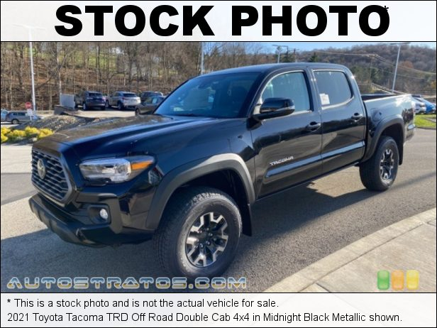 Stock photo for this 2021 Toyota Tacoma Double Cab 4x4 3.5 Liter DOHC 24-Valve Dual VVT-i V6 6 Speed Automatic