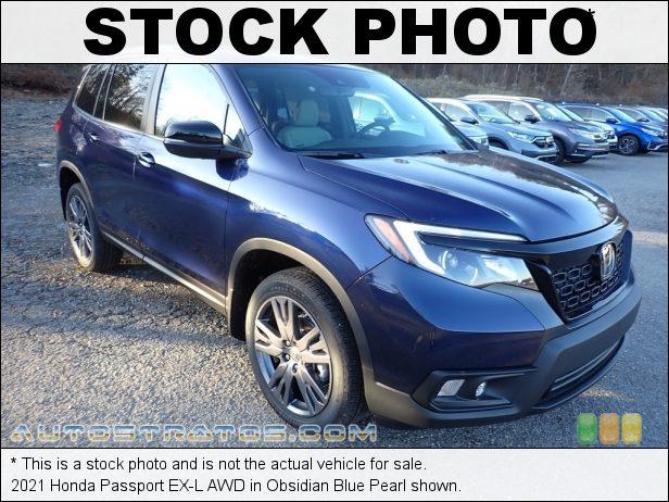 Stock photo for this 2021 Honda Passport EX-L AWD 3.5 Liter SOHC 24-Valve i-VTEC V6 9 Speed Automatic