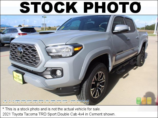 Stock photo for this 2021 Toyota Tacoma Cab 4x4 3.5 Liter DOHC 24-Valve Dual VVT-i V6 6 Speed Automatic