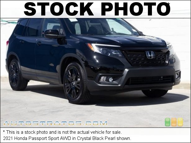 Stock photo for this 2021 Honda Passport Sport AWD 3.5 Liter SOHC 24-Valve i-VTEC V6 9 Speed Automatic