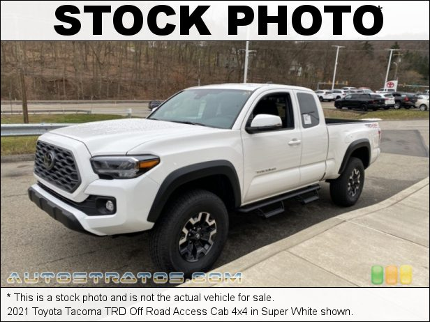 Stock photo for this 2021 Toyota Tacoma Access Cab 2.7 Liter DOHC 16-Valve Dual VVT-i 4 Cylinder 6 Speed Automatic