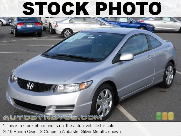Stock photo for this 2010 Honda Civic LX Coupe 1.8 Liter SOHC 16-Valve i-VTEC 4 Cylinder 5 Speed Automatic