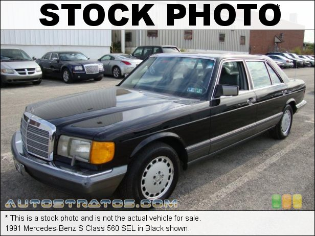 Stock photo for this 1991 Mercedes-Benz S Class 560 SEL 5.6 Liter SOHC 16-Valve V8 4 Speed Automatic