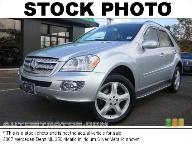 Stock photo for this 2007 Mercedes-Benz ML 350 4Matic 3.5L DOHC 24V V6 7 Speed Automatic
