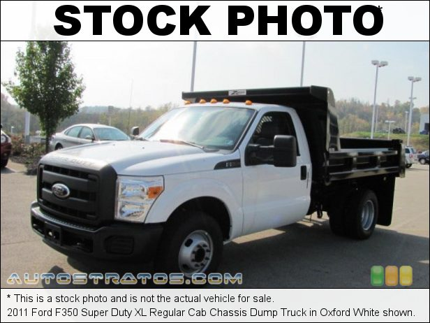 Stock photo for this 2011 Ford F350 Super Duty XL Regular Cab Chassis 6.2 Liter SOHC 16-Valve V8 6 Speed TorqShift Automatic