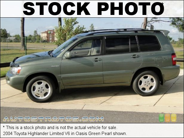 Stock photo for this 2004 Toyota Highlander Limited V6 3.3 Liter DOHC 24-Valve VVT-i V6 5 Speed Automatic