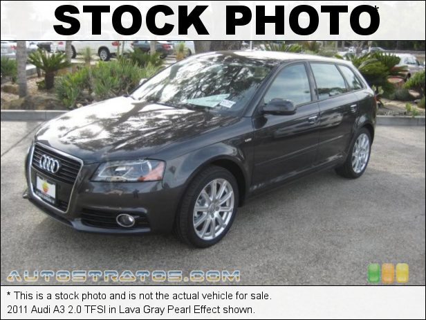 Stock photo for this 2011 Audi A3 2.0 TFSI 2.0 Liter FSI Turbocharged DOHC 16-Valve VVT 4 Cylinder 6 Speed S tronic Dual-Clutch Automatic