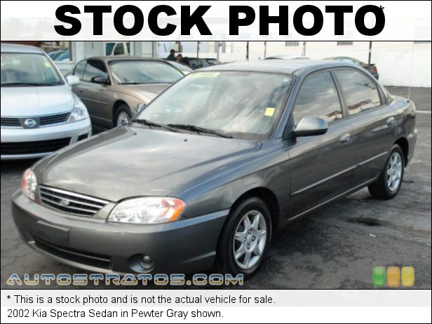 Stock photo for this 2003 Kia Spectra Sedan 1.8 Liter DOHC 16-Valve 4 Cylinder 4 Speed Automatic