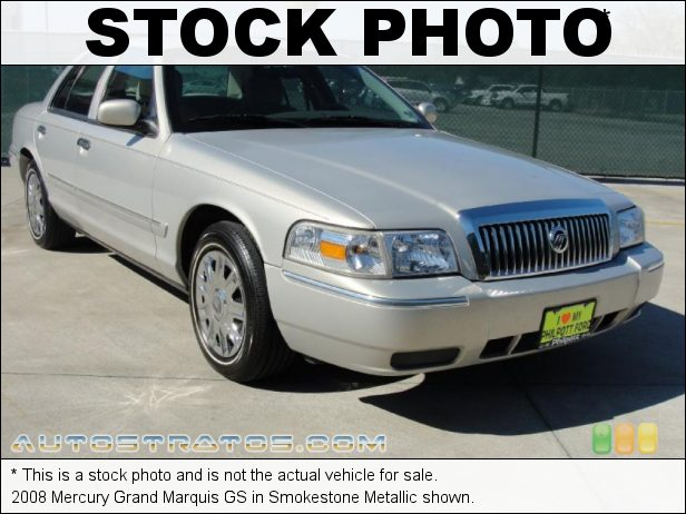 Stock photo for this 2008 Mercury Grand Marquis GS 4.6 Liter SOHC 16-Valve V8 4 Speed Automatic