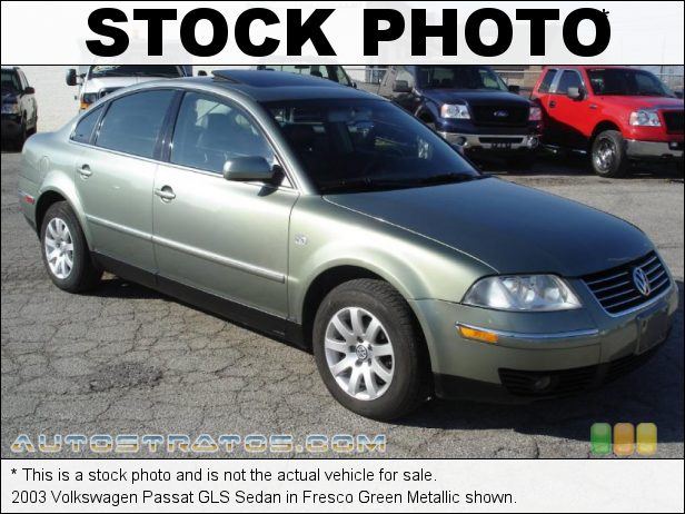Stock photo for this 2003 Volkswagen Passat GLS Sedan 1.8L DOHC 20V Turbocharged 4 Cylinder 5 Speed Manual