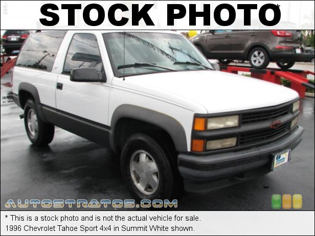 Stock photo for this 1996 Chevrolet Tahoe 4x4 5.7 Liter OHV 16-Valve V8 4 Speed Automatic
