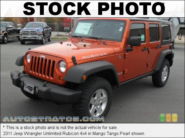 Stock photo for this 2011 Jeep Wrangler Unlimited Rubicon 4x4 3.8 Liter OHV 12-Valve V6 4 Speed Automatic