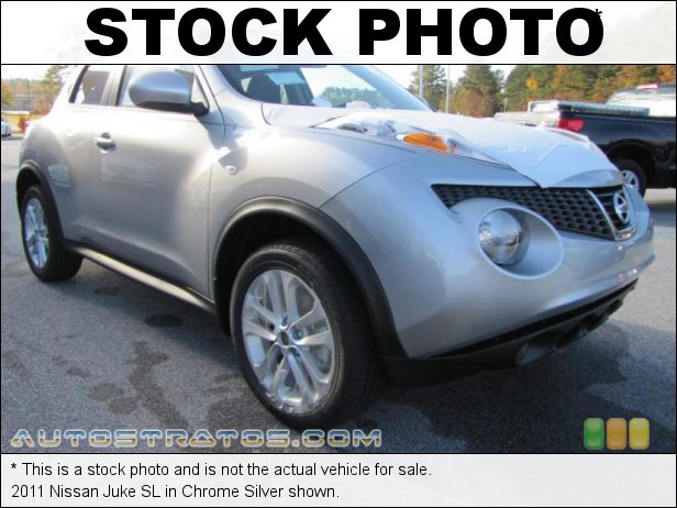 Stock photo for this 2011 Nissan Juke SL 1.6 Liter DIG Turbocharged DOHC 16-Valve 4 Cylinder 6 Speed Manual