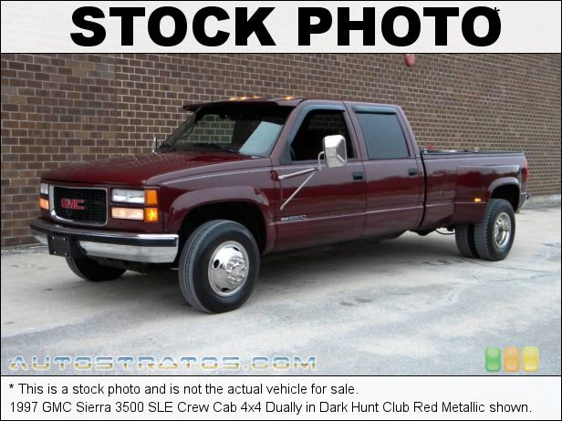 Stock photo for this 1998 GMC Sierra 3500 Crew Cab 4x4 7.4 Liter OHV 16-Valve V8 4 Speed Automatic