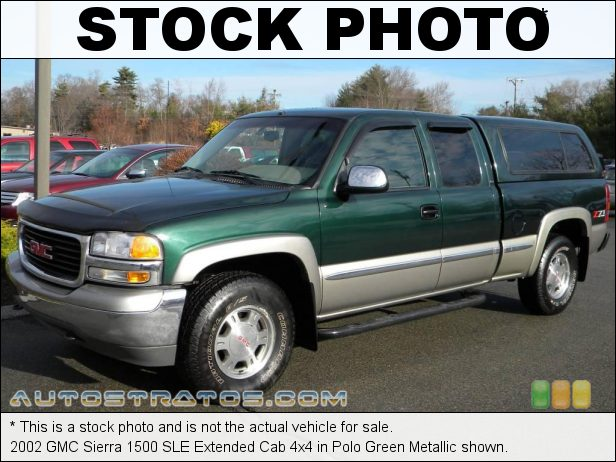 Stock photo for this 2002 GMC Sierra 1500 Extended Cab 4x4 5.3 Liter OHV 16-Valve V8 4 Speed Automatic
