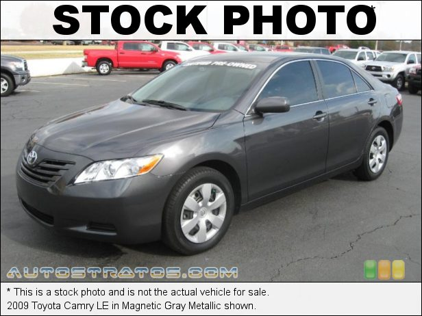 Stock photo for this 2009 Toyota Camry LE 2.4 Liter DOHC 16-Valve VVT-i 4 Cylinder 5 Speed Automatic