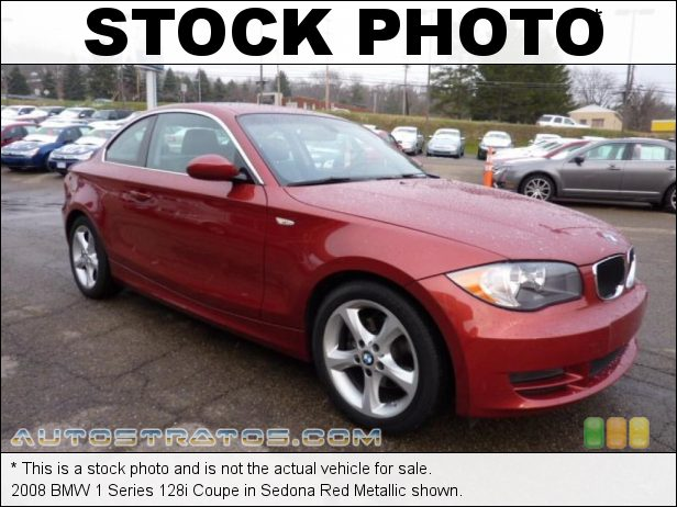 Stock photo for this 2008 BMW 1 Series 128i Coupe 3.0 Liter DOHC 24-Valve VVT Inline 6 Cylinder 6 Speed Steptronic Automatic